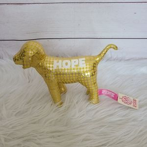 NWT PINK Yellow and Gold Poka Dot Hope Dog